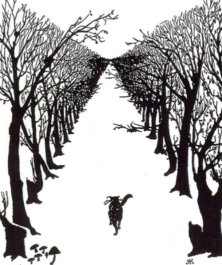 The Cat that Walked by Himself, from the Just-So Stories, text and illustration by Rudyard Kipling