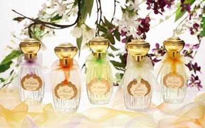 Annick Goutal soliflore perfume bottles including Le Muguet.