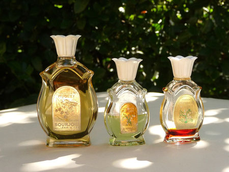 Bottles of Bourjois fragrance Premier Muguet.