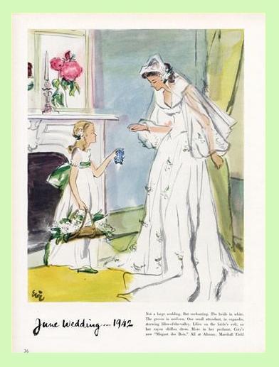Ad for Coty Muguet des Bois perfume, 1942.