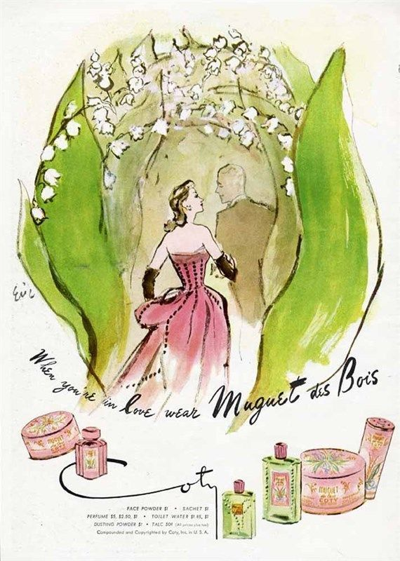 """Coty """"When You're in Love"""" ad for Muguet des Bois fragrance, by Eric"""