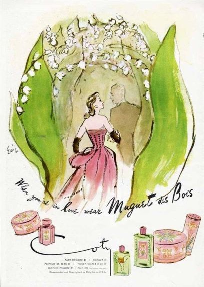 "Coty ""When You're in Love"" ad for Muguet des Bois fragrance, by Eric"