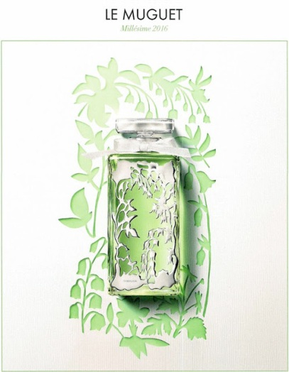 New Guerlain Muguet 2016 eau de toilette by Thierry Wasser, in bottle by Parisian jewelers Ambre & Louise.