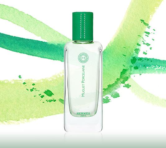 Bottle of Hermes' Hermessence fragrance Muguet Porcelaine