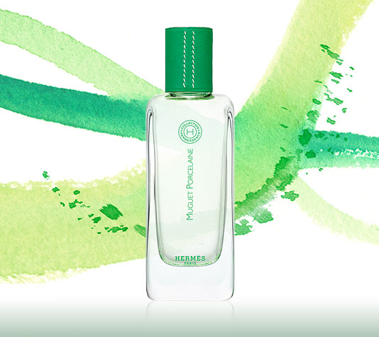 Bottle of Hermes' Hermessence fragrance Muguet Porcelaine