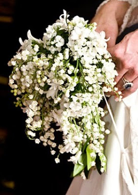 Kate Middleton's royal wedding bouquet of lilies of the valley and other white flowers