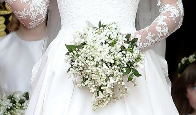 Kate Middleton's royal wedding, dress and bouquet