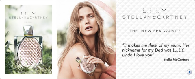 L.I.L.Y. fragrance based on lily of the valley or muguet, by Stella McCartney