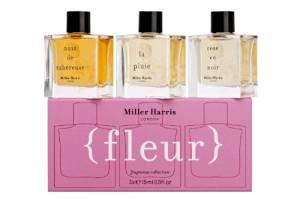 Set of three Miller Harris fragrances, Fleurs