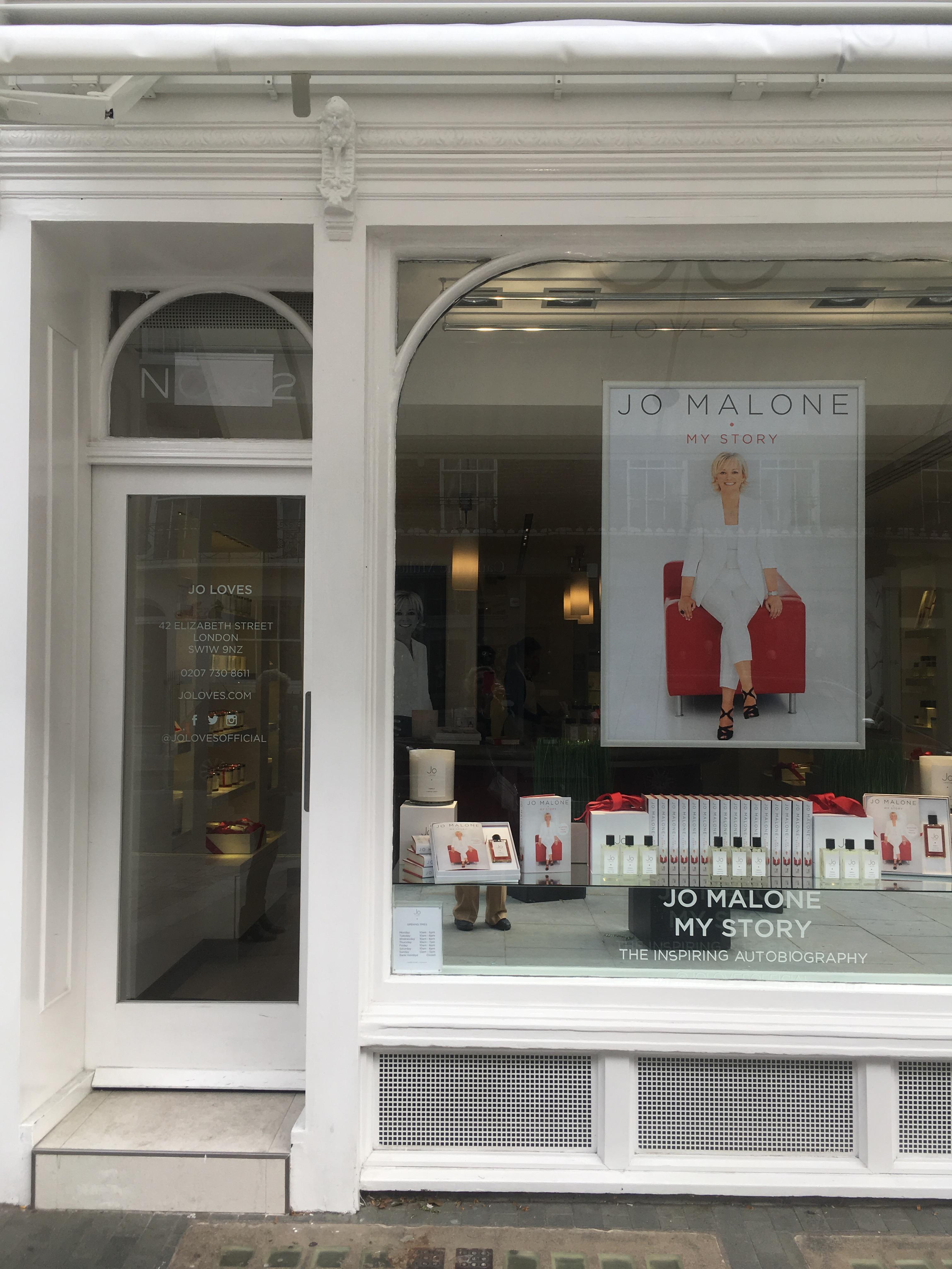 Jo Loves fragrance boutique on Elizabeth Street in London