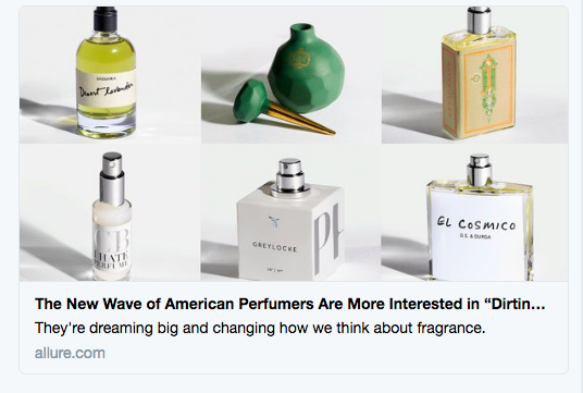 O Pioneers? A Reaction to Allure's Recent Perfume Coverage