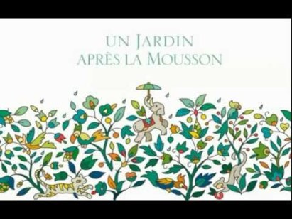 Print for outer box of Hermes' eau de toilette Un Jardin Apres La Mousson
