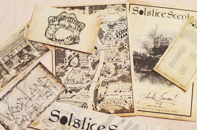 Labels and artwork from Solstice Scents