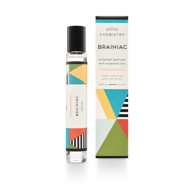 Rollerball of Brainiac fragrance from Target's Good Chemistry collection by Illume