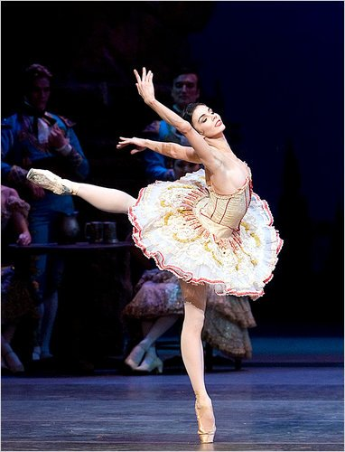 Ballerina Natalia Osopova as Kitri in ballet Don Quixote