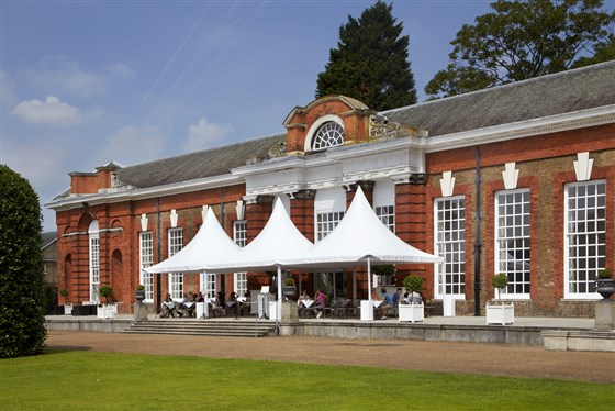 Outdoor terrace at The Orangery, Kensington Palace, London