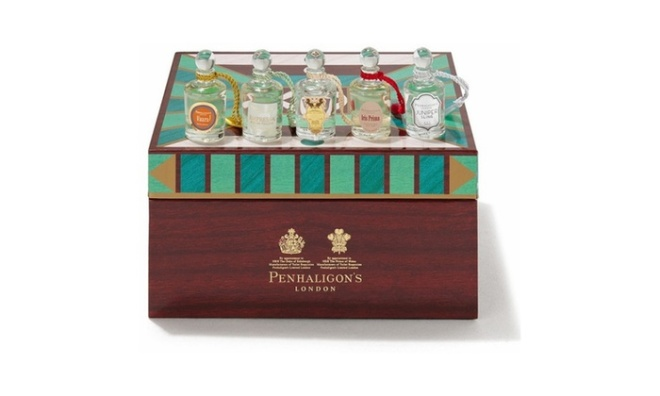 GIft coffret of five Penhaligon's miniature fragrances