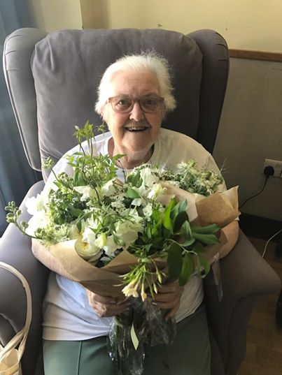 Flowers given to hospice patients