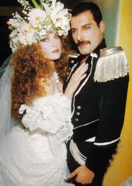 Queen's Freddie Mercury and Jane Seymour at Fashion Aid, 1985.