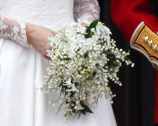 Kate Middleton's wedding bouquet of lilies of the valley.