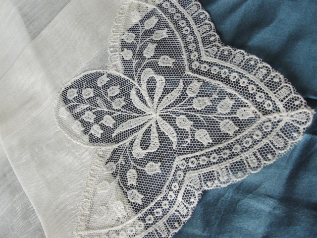 Detail of vintage lily of the valley lace pattern