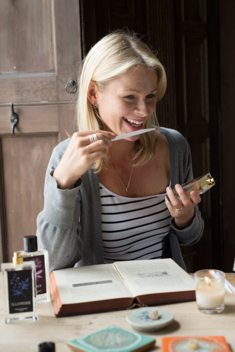 Perfumer Nancy Meiland testing fragrances