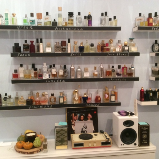 Scent bar retail store in Los Angeles, home of luckyscent.com online fragrance retailer