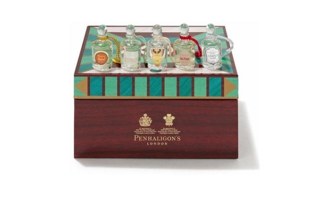 Penhaligon's gift coffret of five mini fragrances.