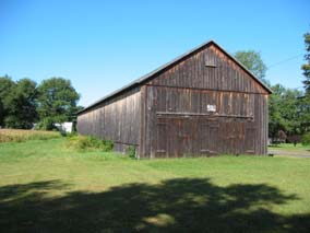 Old tobacco shed, barn, in Connecticut River Valley.