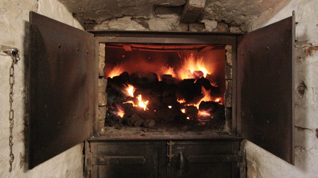 Peat kiln used in Scotch whisky distillery, Highland Park, Orkney
