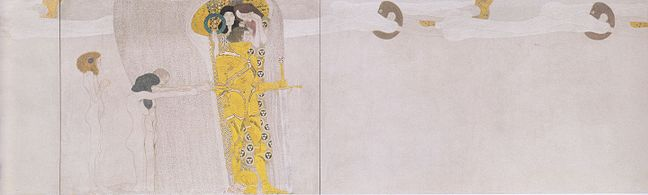 Panel, Gustav Klimt's Vienna Secession Beethoven Frieze