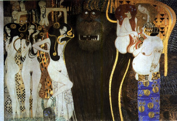 Gustav Klimt's Beethoven Frieze, second panel