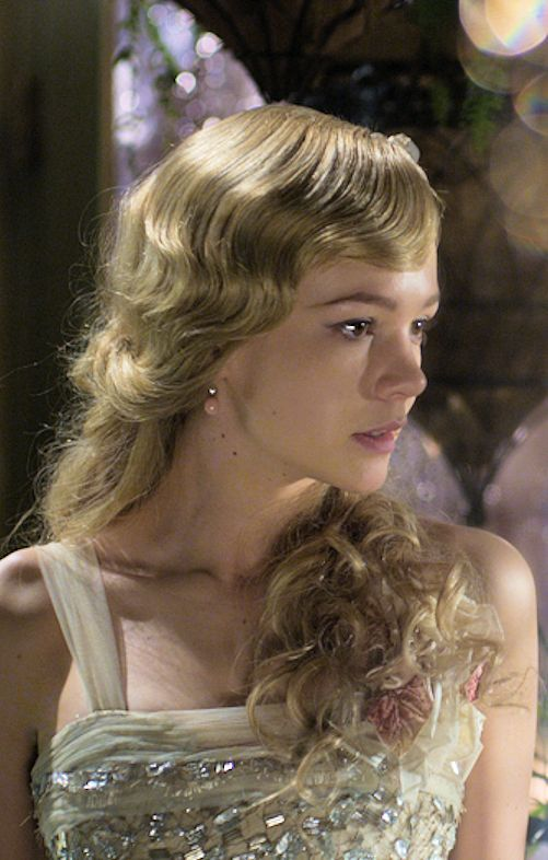 Actress Carey Mulligan as the young Daisy Buchanan in Baz Luhrman's The Great Gatsby, by F. Scott Fitzgerald.