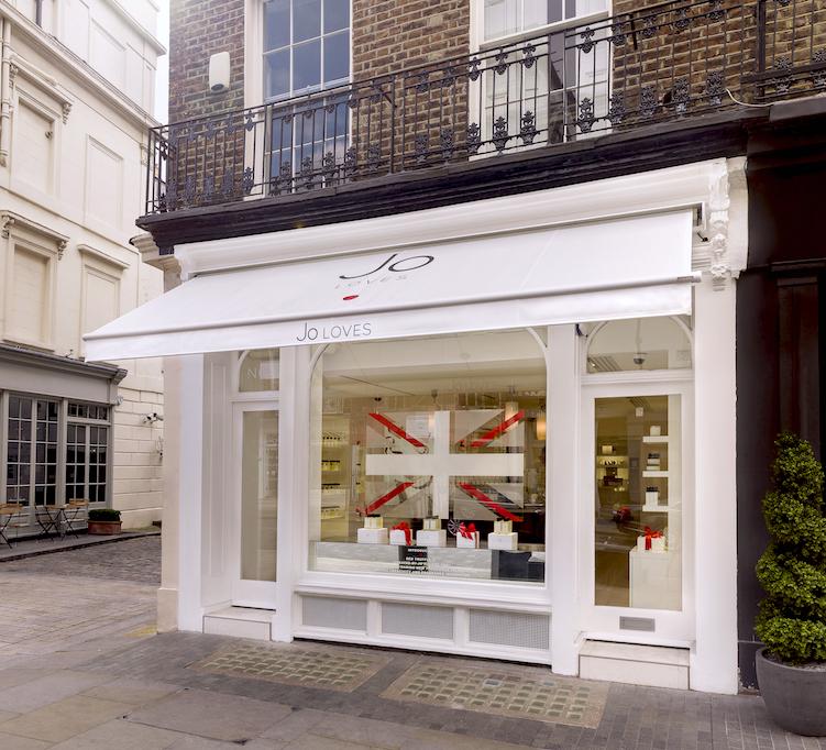 Jo Loves fragrance boutique at 42 Elizabeth Street, London.