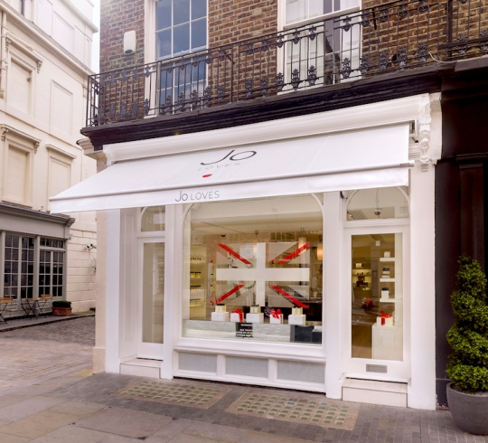 Jo Loves fragrance boutique at 42 Elizabeth Street, London.