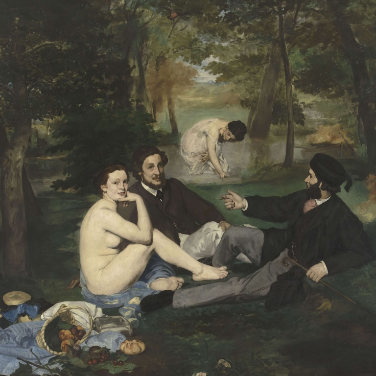 Le Dejeuner sur l'Herbe, painting by Edouard Manet, from Musee de l
