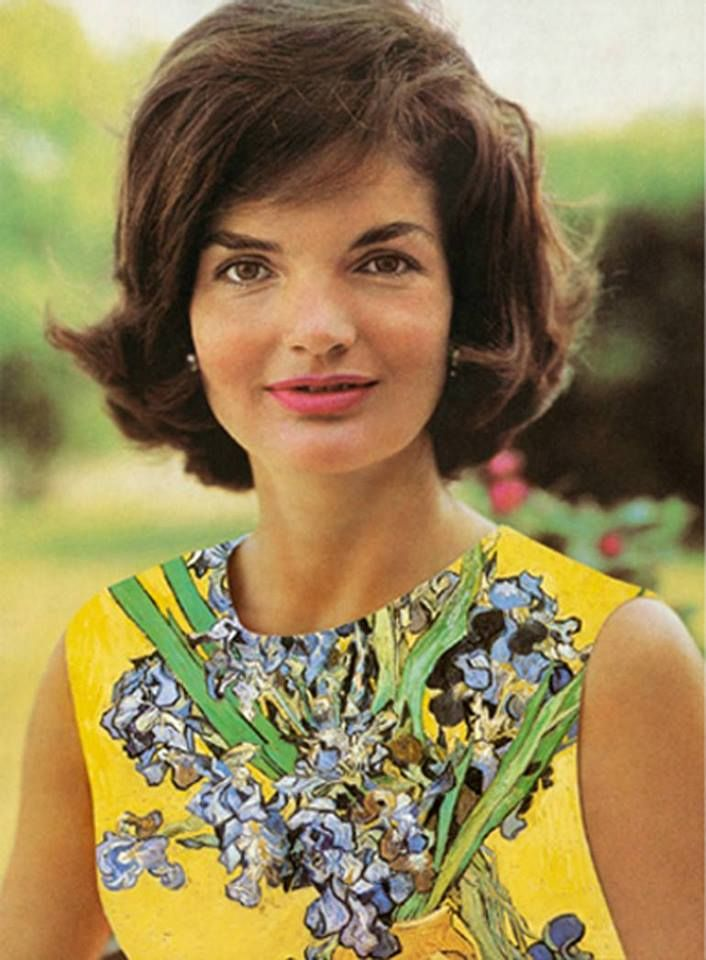 Jackie Kennedy in yellow iris sheath dress