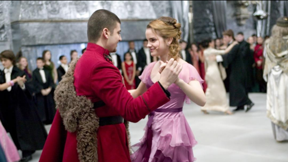 Hermione Granger and Victor Krum dancing at Yule Ball
