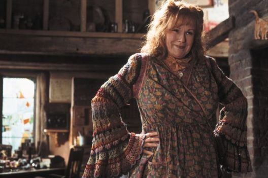 Molly Weasley in her kitchen at The Burrow