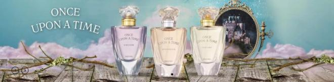 Three fragrance bottles from Brocard perfume collection.