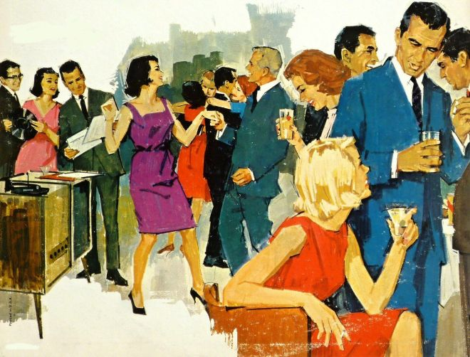 Retro cocktail party image