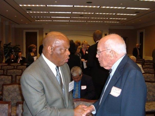 Congressman and civil rights leader John Lewis with Dr. Elbert Tuttle, Jr.