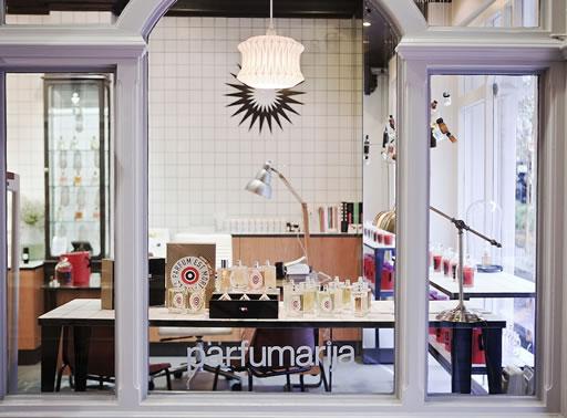 Storefront of perfumery Parfumarija.