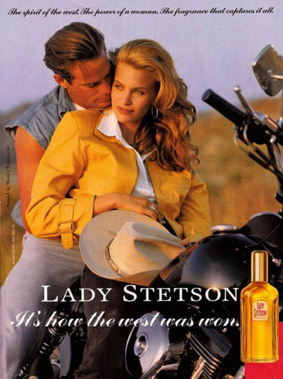Ad for Lady Stetson cologne