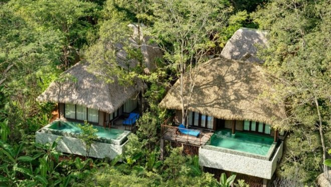 Thatched roof villas with pools in Phuket, Thailand
