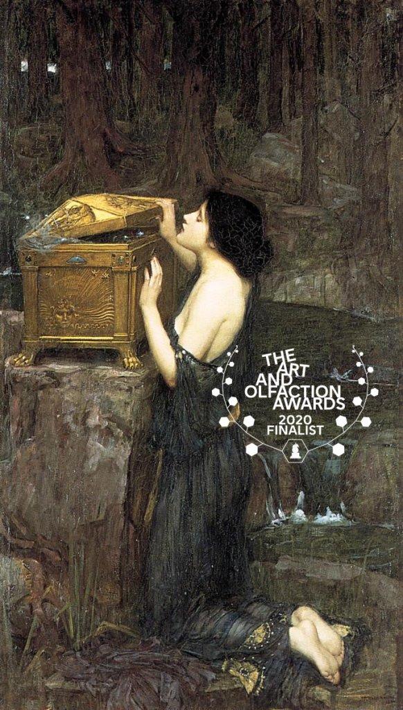 Pre-Raphaelite painting of Pandora opening the box