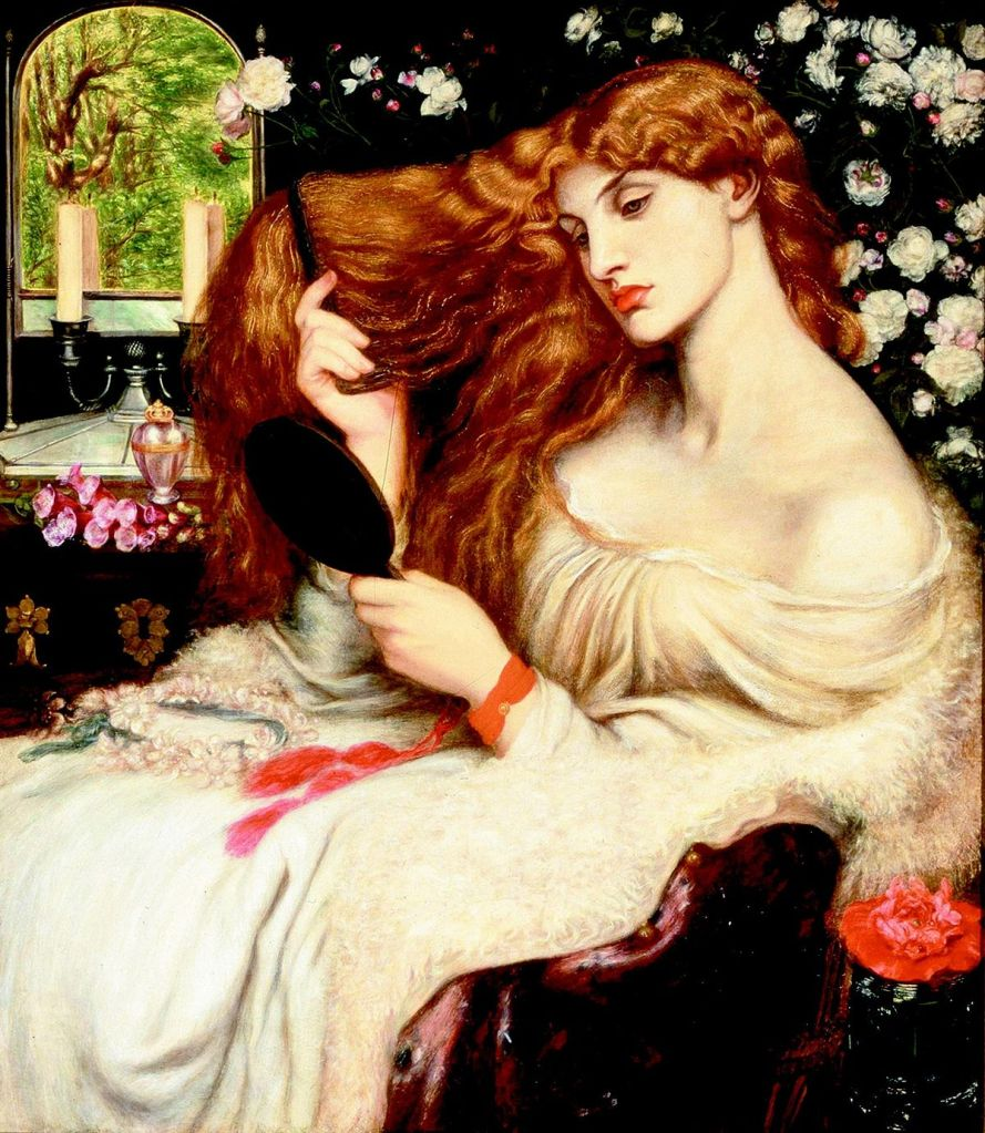 Pre-Raphaelite painting of Lilith, first wife of Adam