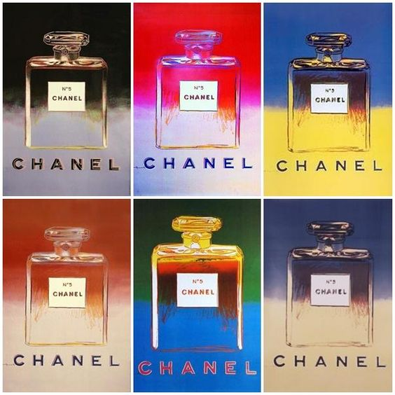 Bottles of Chanel No.5 perfume by Andy Warhol